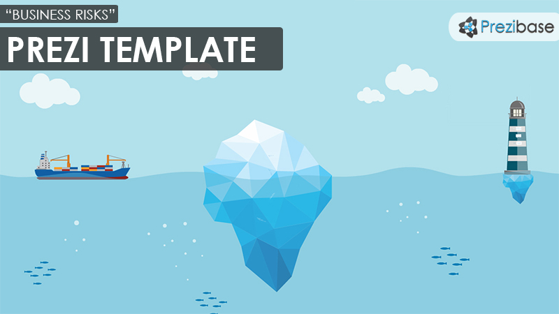 business risks iceberg prezi template