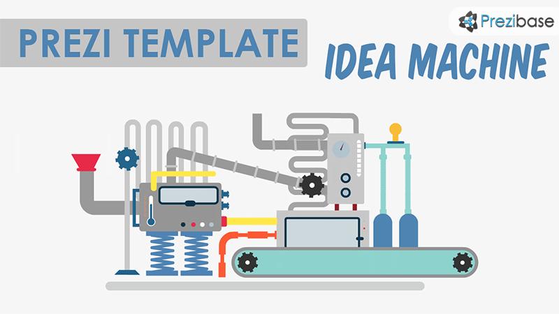 idea machine prezi template conveyor