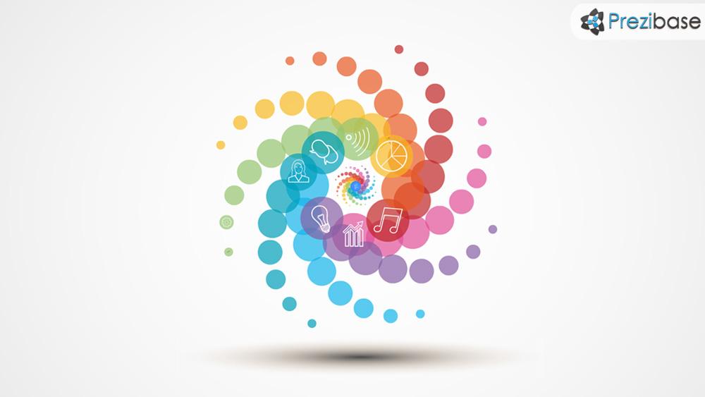 Idea tornado colorful cyclone creative prezi presentation template