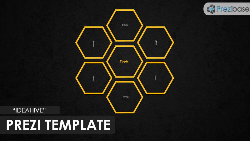 ideahive dark prezi template