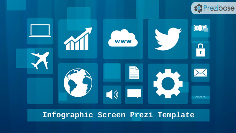 Infographic screen dashboard layout Prezi Template for presentations