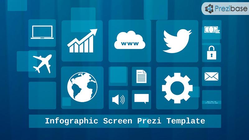 infographic screen blue technology prezi template