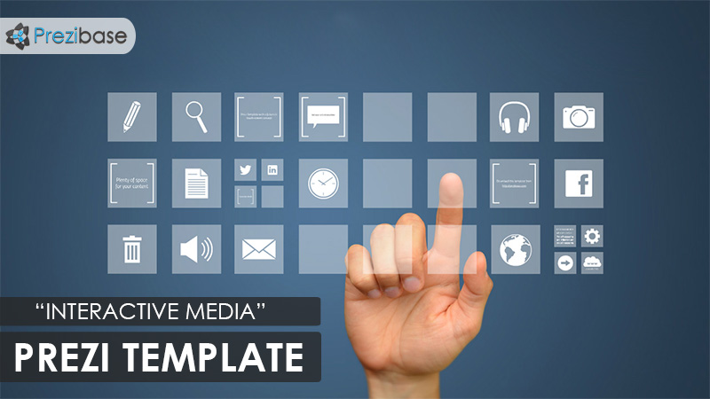 interactive media futuristic screen prezi template touch