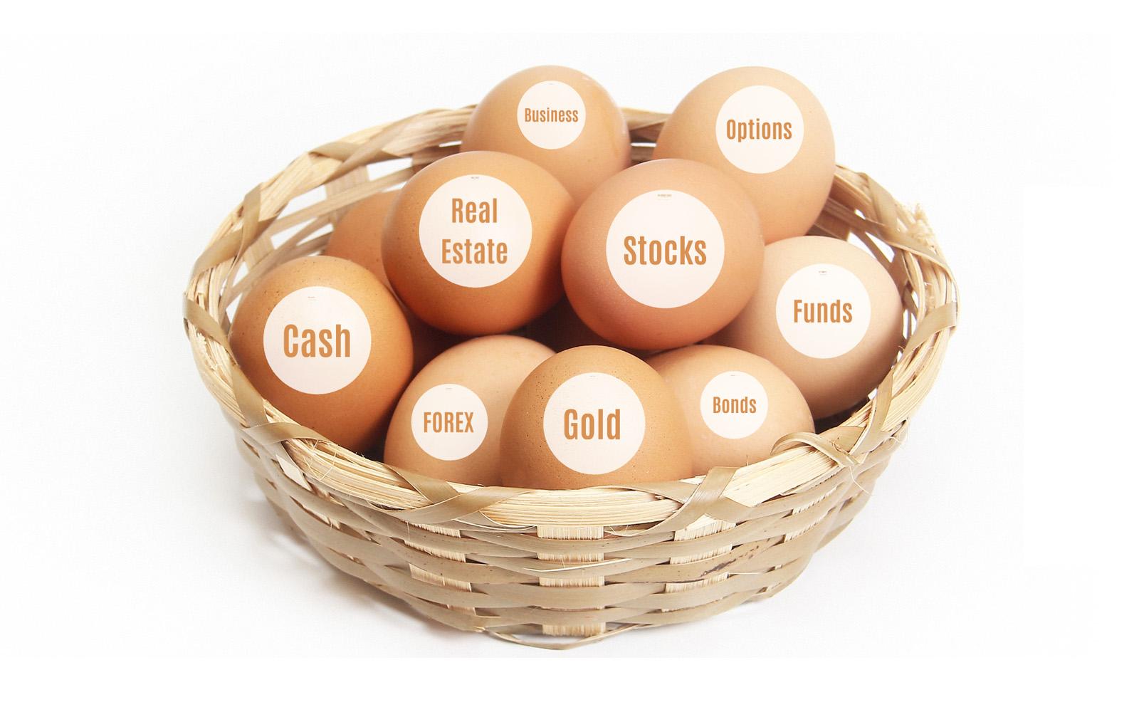 Investing Prezi template eggs in one basket rule