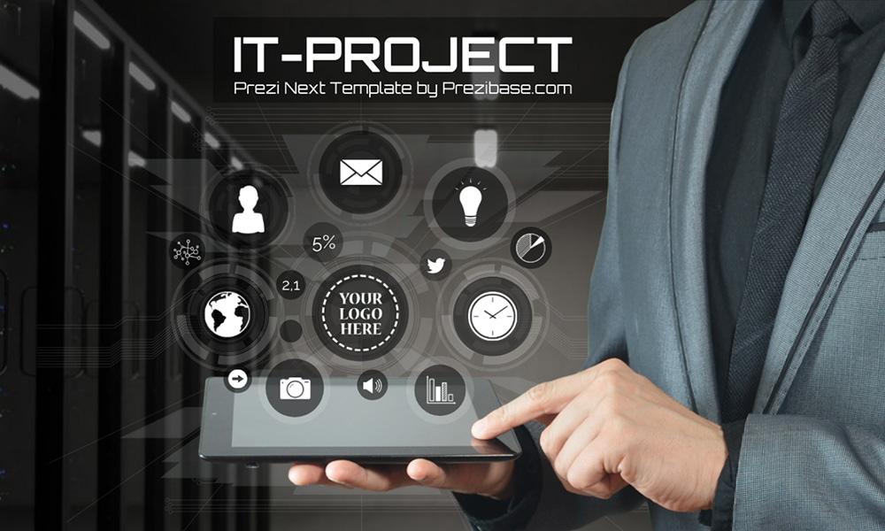 IT businessman future technology prezi presentation template