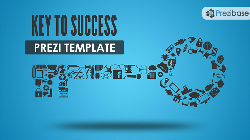 Key to success prezi template school or education
