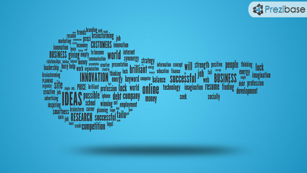 Keywords key from words prezi presentation template