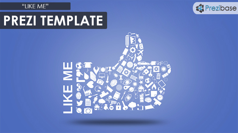 like me social media prezi templae like button facebook