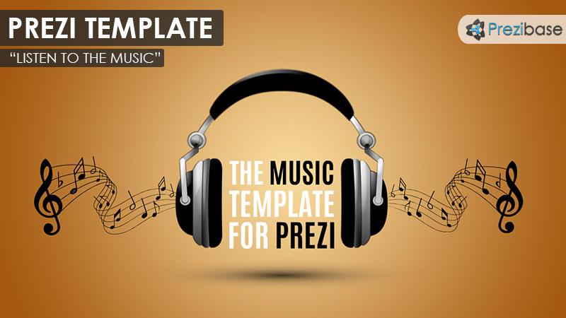 3D music headphones prezi template