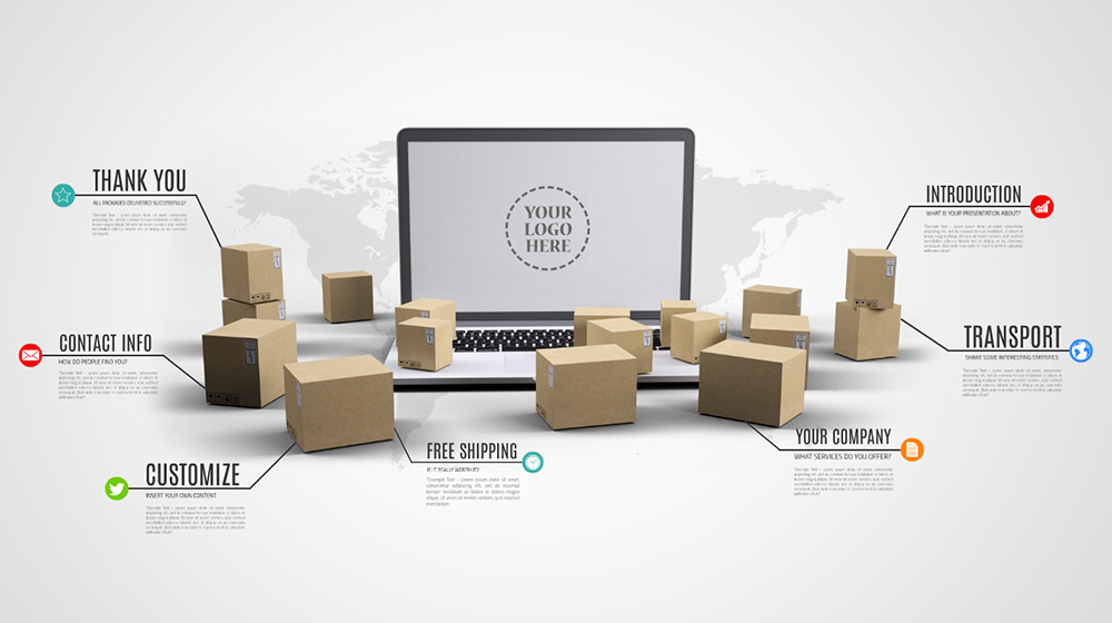 Online sales and logistics Prezi presentation template