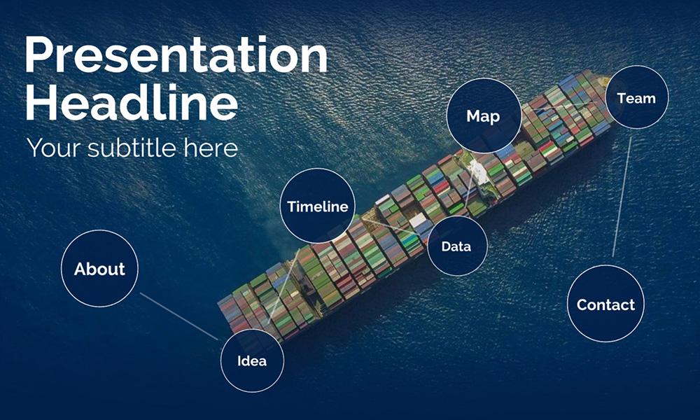 Shipping and logistics prezi presentation template