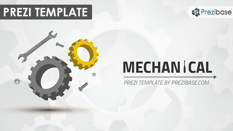 mechanical prezi template | prezibase, Presentation templates