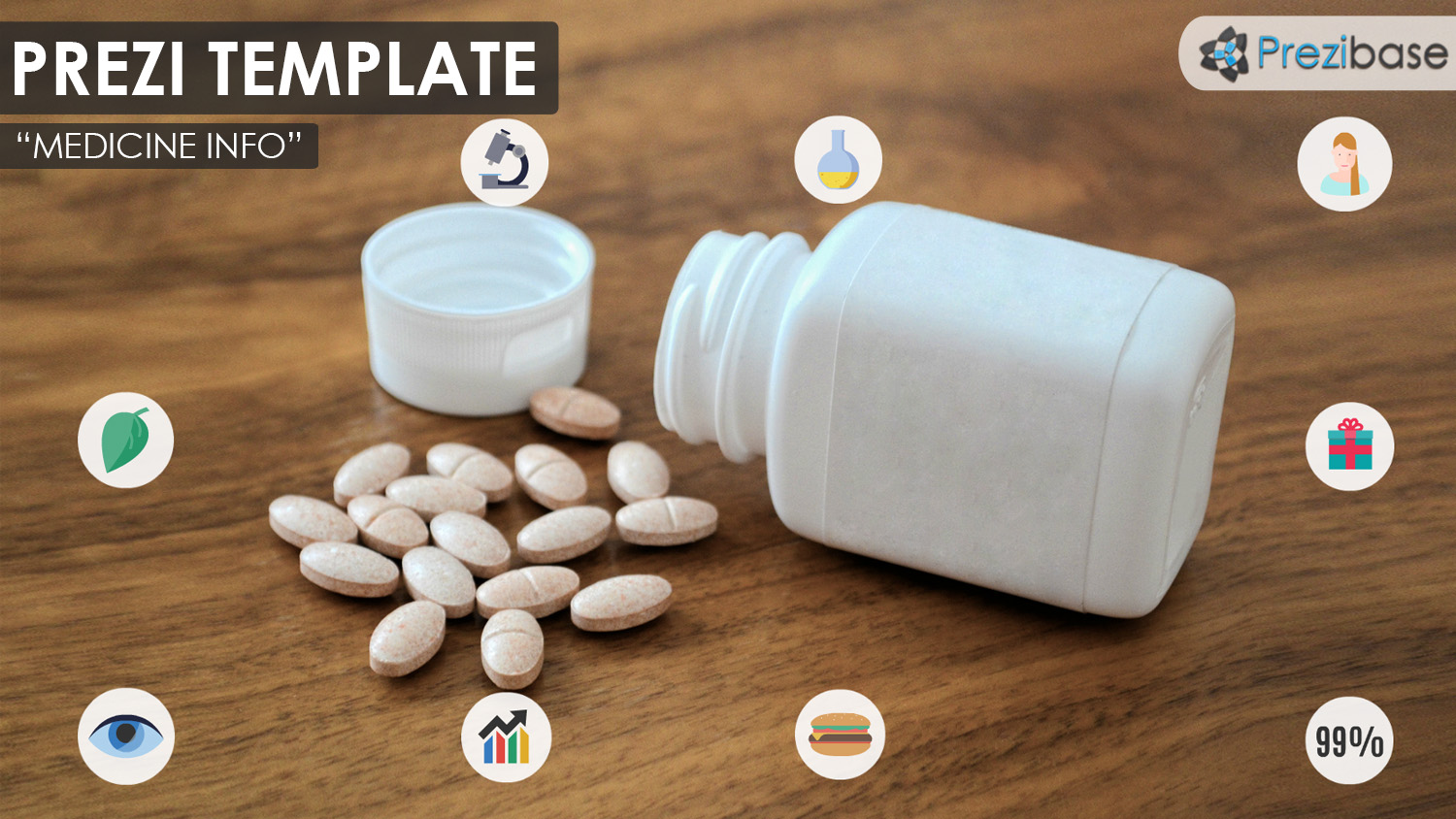 medicine or drug pharmacy and pills prezi template