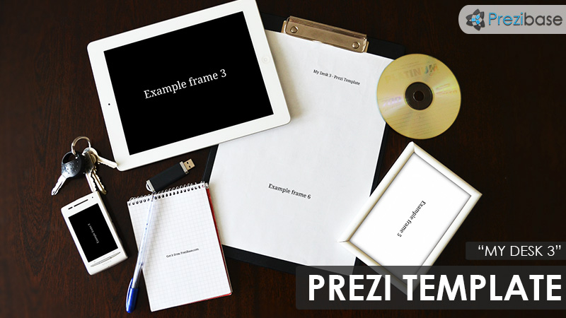my desk office business prezi template