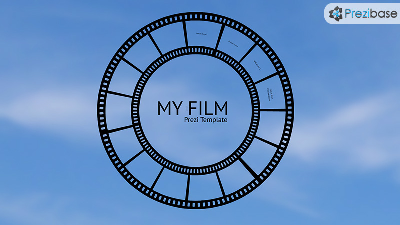 my film movie roll prezi template