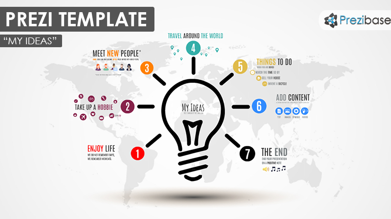 my ideas light bulb creative thinking prezi template