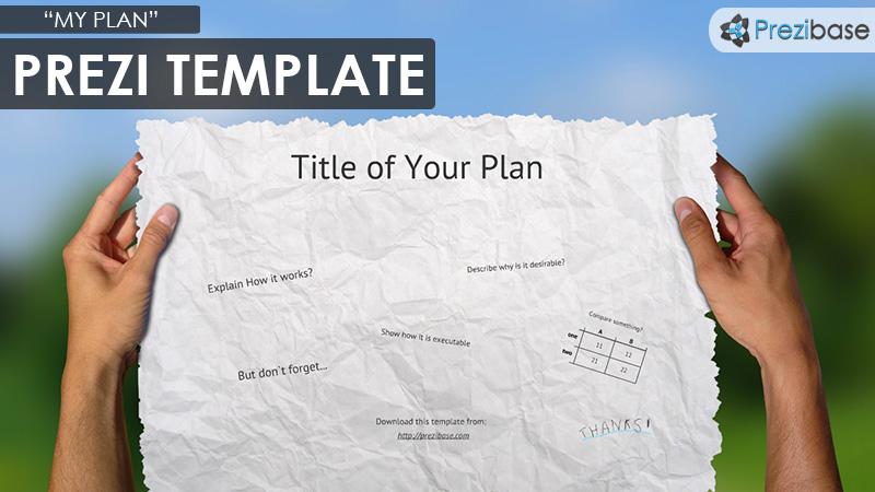 my plan paper prezi template