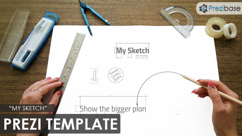 sketch technical drawing prezi template