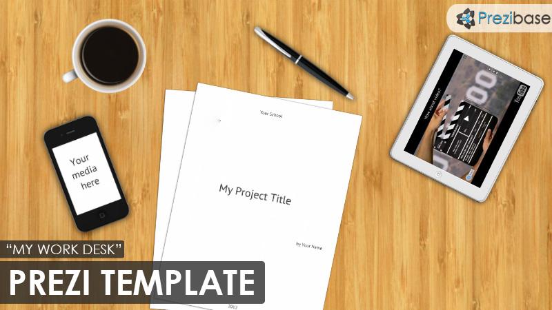 work business office desk prezi template for school resume - Prezi Resume Template