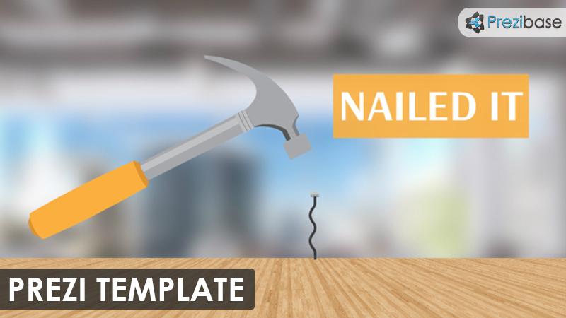 nailed it creative marketing success hammer prezi template