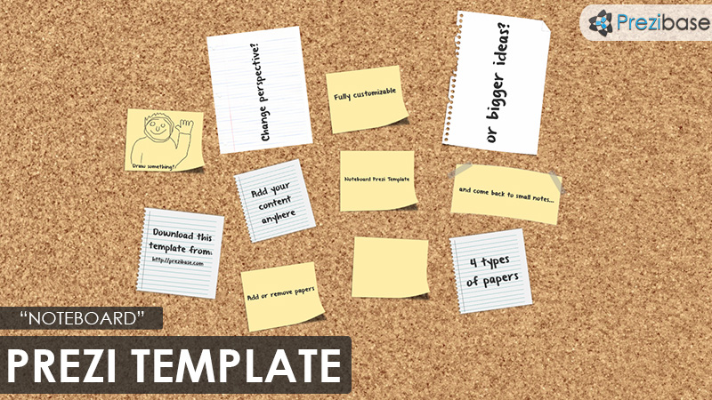 note board cork background prezi template