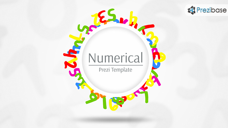 numerical numbers colorful math prezi template children school