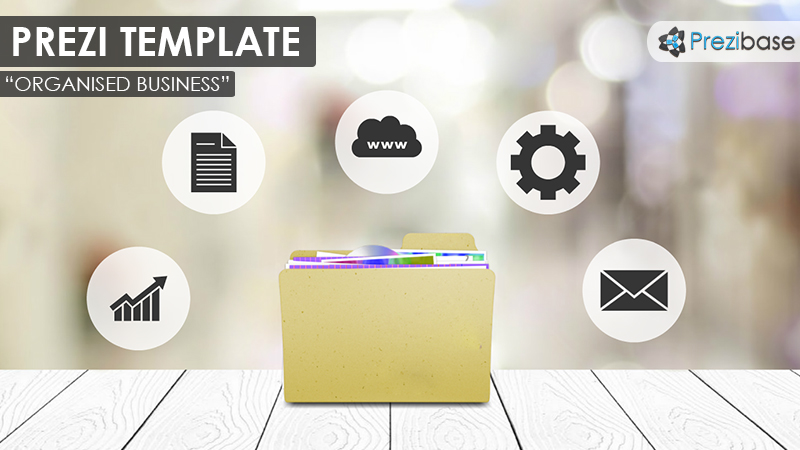 business folders prezi template