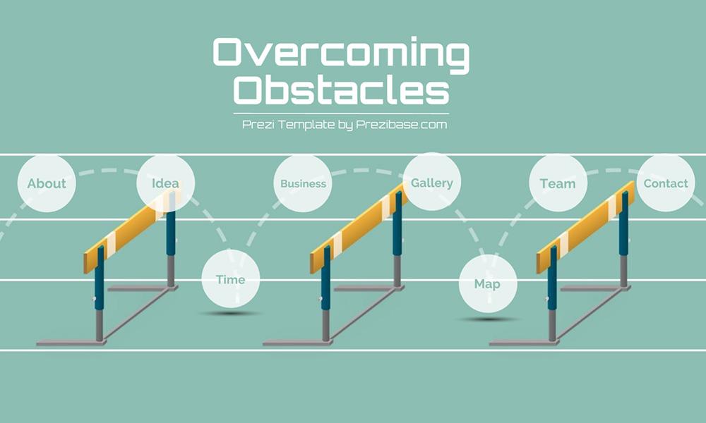 Overcoming obstacles and hurdles prezi next presentation template