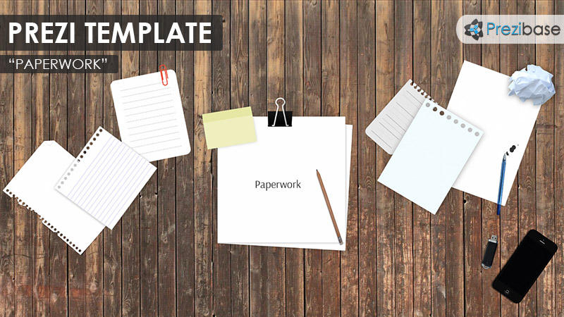 paperwork desk office prezi template