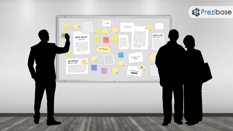 public notice message board ads listings advertising prezi template marketing