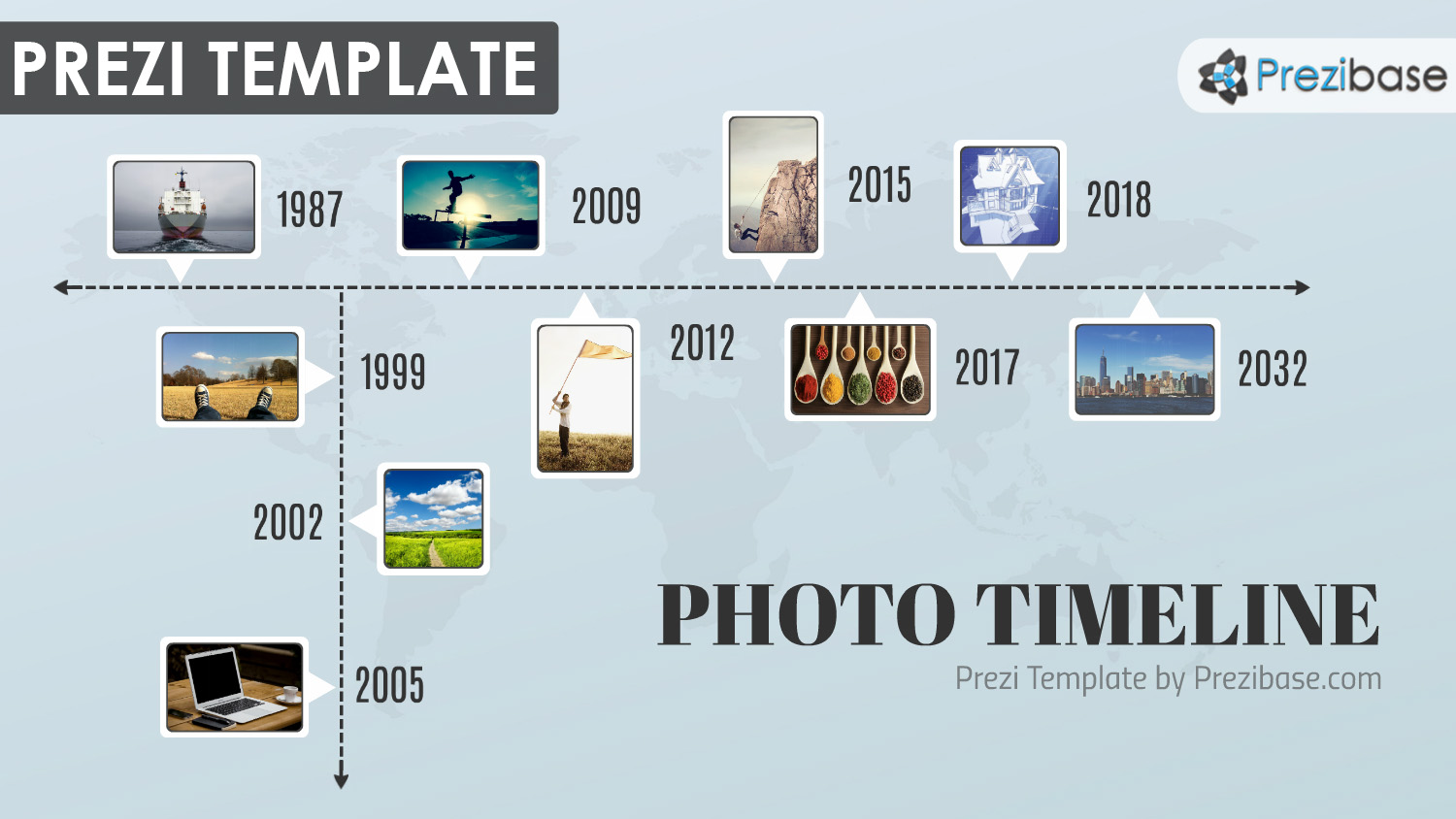 photo business company overview timeline prezi template