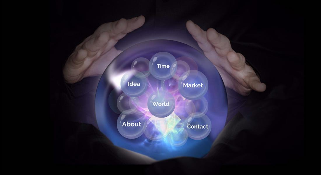 magic crystal ball fortune teller prezi next presentation template