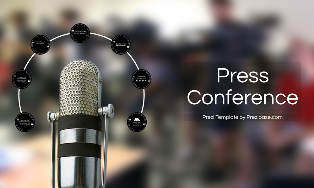 Press Conference media interview prezi presentation template