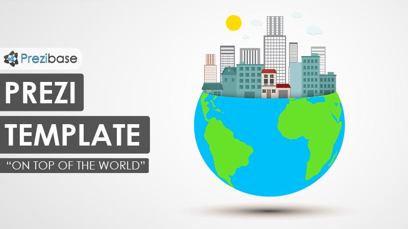 3d globe city world prezi template