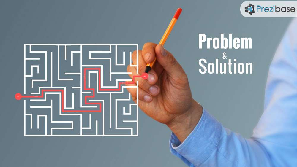 Business wiriting strategy plan problem and solution prezi presentation template