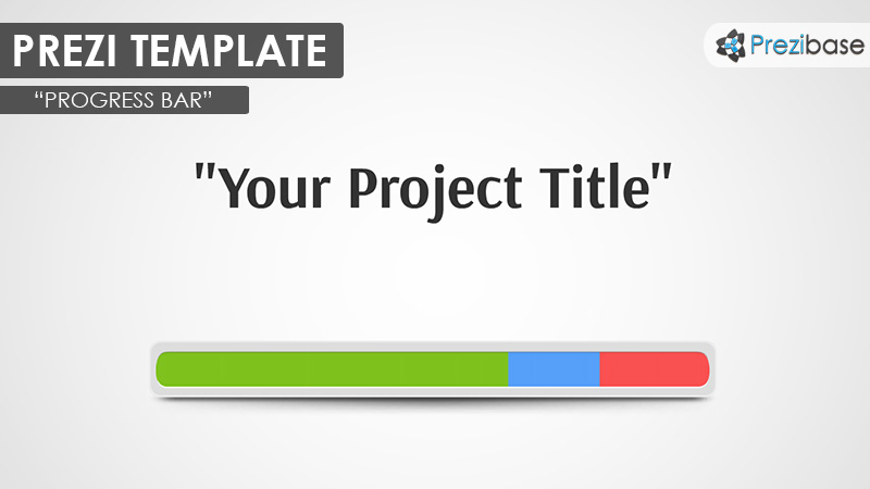 creative progress bar prezi template project
