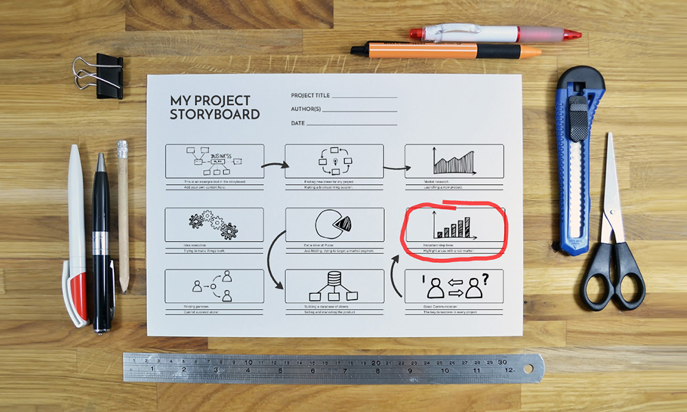 Project Storyboard Prezi Template | Prezibase