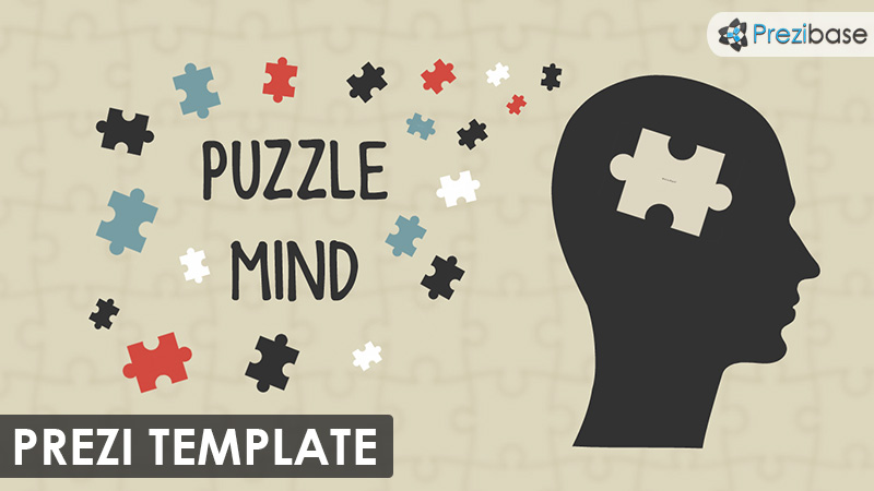 puzzle mind pieces prezi template thinking head silhouette