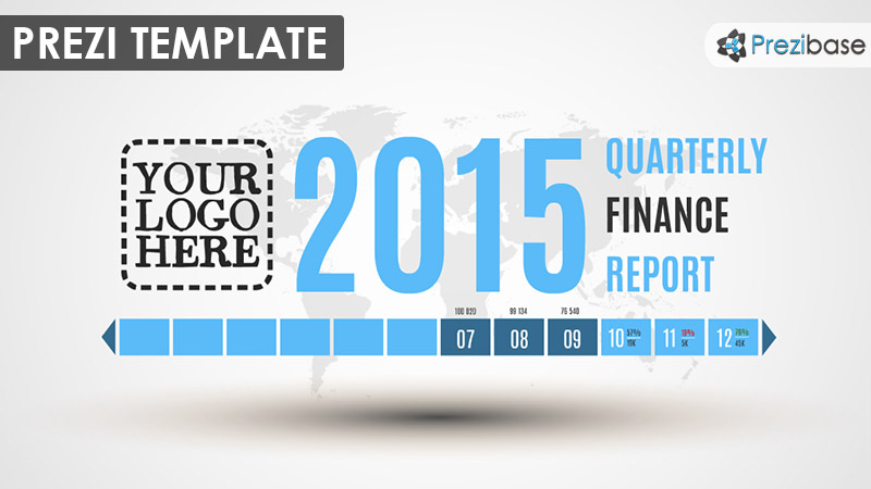 Quarterly finance business company report prezi template