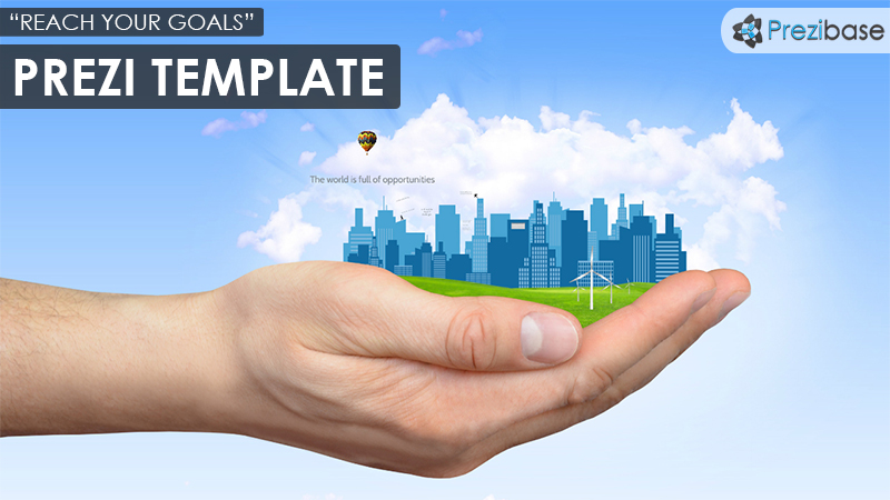 city in hand animated prezi template