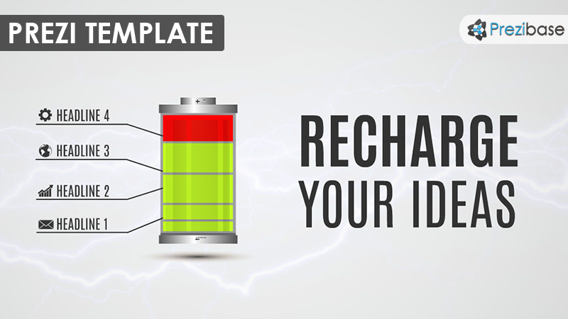 recharge ideas prezi template battery electricity