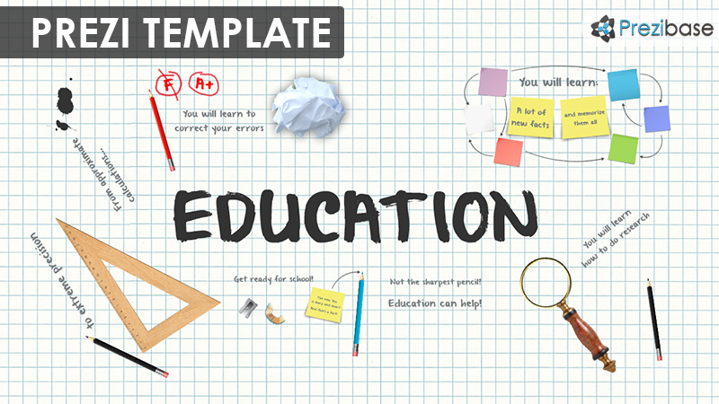 education and school elements writing paper grades prezi template