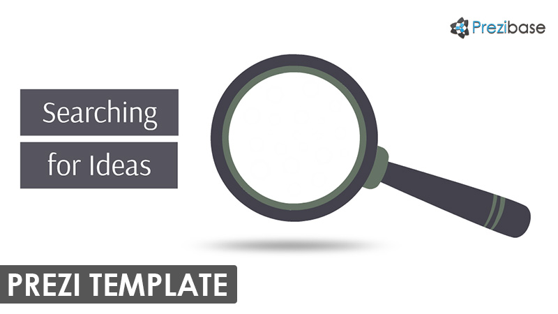 magnifying glass research prezi template