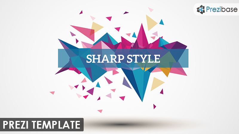 abstract colorful shapes prezi template