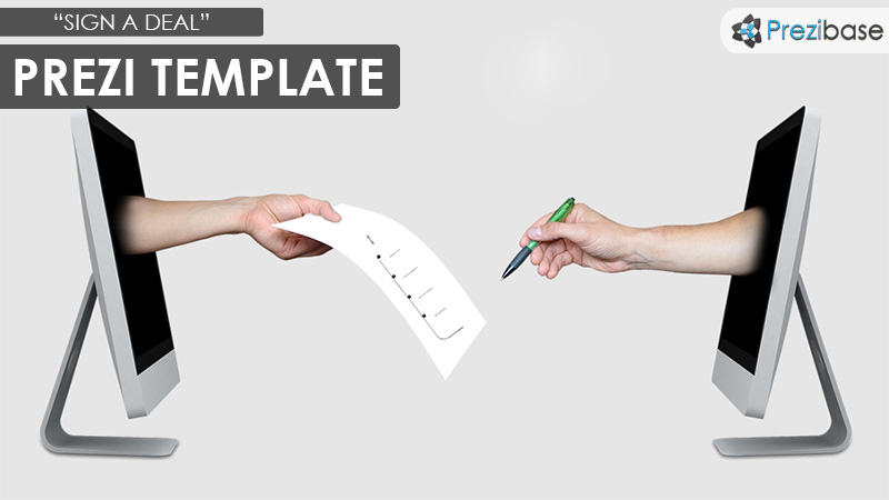 sign a deal business contract prezi template