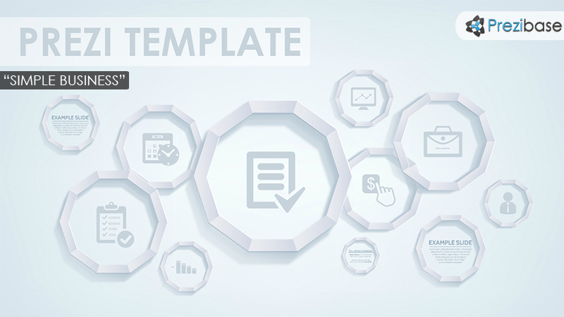 simple business corporate sleek clean minimal prezi template