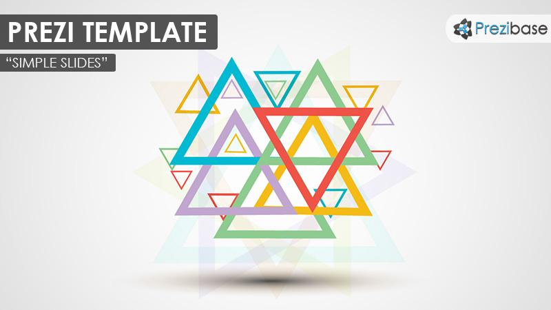 simple slides 3d creative triangles background colorful prezi template