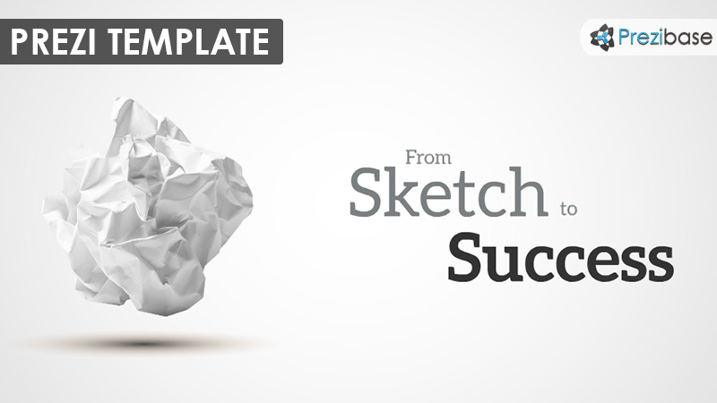 paper sketch startup business drawing prezi template