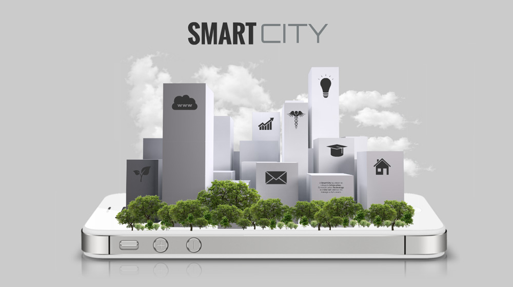 3D smart city technology Prezi Template for presentations