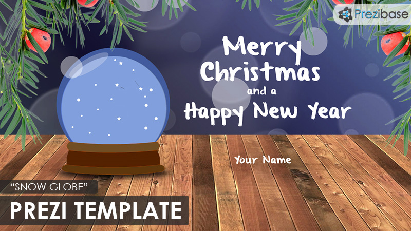 snow globe christmas prezi template